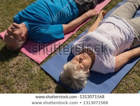 Magasról fotózva kilátás aktív idős férfi nő Stock fotó © wavebreak_media