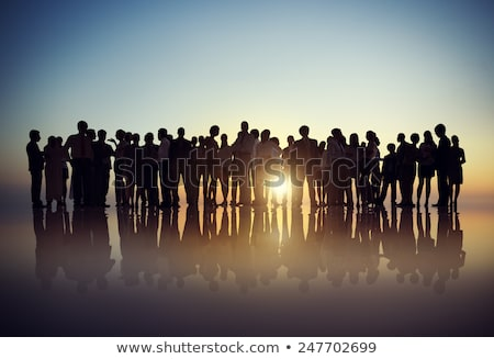 People Stand Together, Gathering for Communication Stock photo © robuart