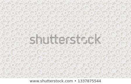 曼陀羅 パターン 白 実例 背景 緑 ストックフォト © bluering