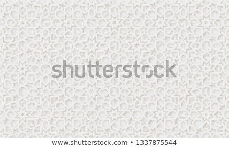 Mandala patronen witte illustratie achtergrond groene Stockfoto © bluering