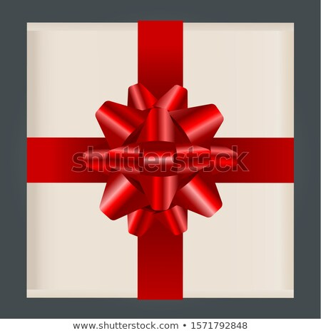 Present Inside Box Tied with Ribbon and Big Bow Stock photo © robuart