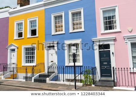 Colorful serial houses Stock photo © elxeneize
