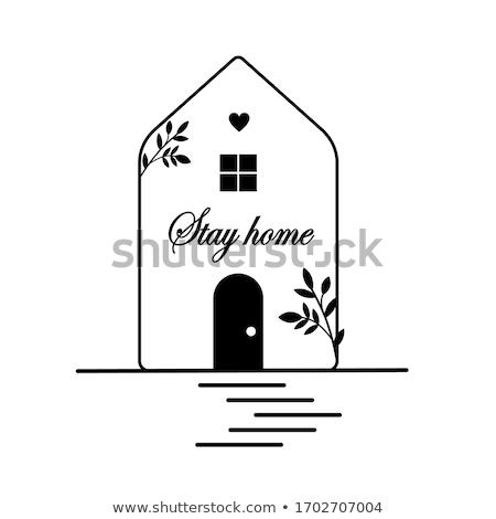 Tartózkodás otthon szett otthoni iroda növekvő növények Stock fotó © foxbiz