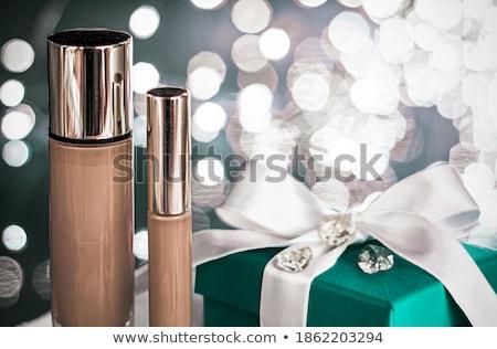 Vacanze trucco fondazione verde scatola regalo cosmetici Foto d'archivio © Anneleven