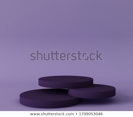 Purple mock up podium with circle frames 3D Stock photo © djmilic