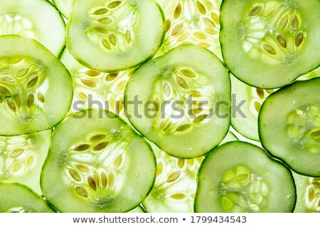 Close up on sliced fresh zucchini or courgette Stock photo © Giulio_Fornasar