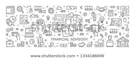 Financial adviser concept landing page Stock photo © RAStudio
