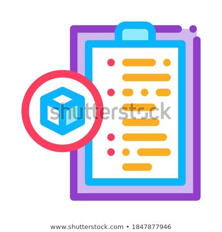 Pacchetto dichiarazione icona vettore contorno illustrazione Foto d'archivio © pikepicture