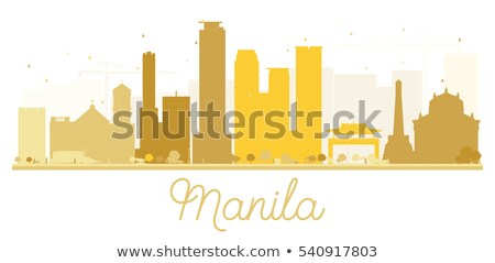 Manila dourado silhueta simples turismo Foto stock © ShustrikS
