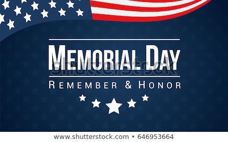Dag USA vector ontwerpsjabloon Amerikaanse vlag vallen Stockfoto © articular