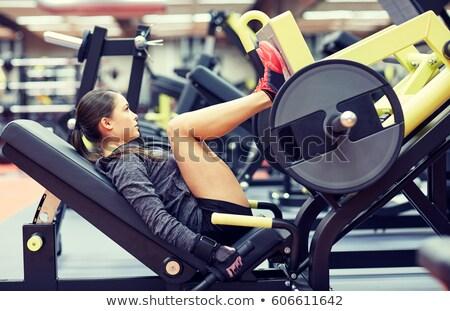 Pierna prensa formación hombre gimnasio deporte Foto stock © olira