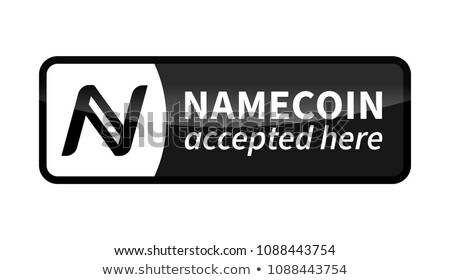 Namecoin accepted here, black glossy badge on white Stock photo © evgeny89
