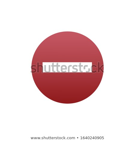 Do not enter blank red road sign. Stock Vector illustration isolated on white background. Stock photo © kyryloff