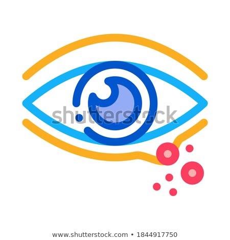 rash near eye icon vector outline illustration Stock photo © pikepicture