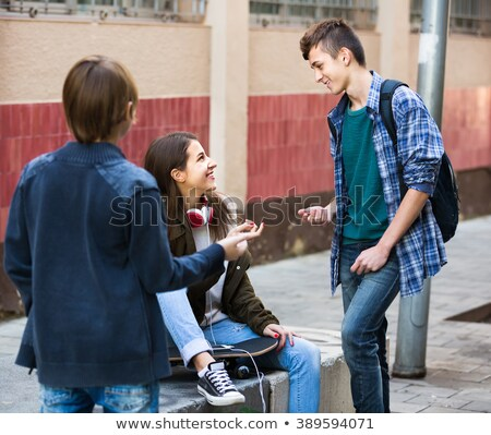 Teenagers hanging out in a lounge Stock photo © photography33