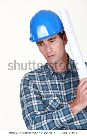 Operator with paper roll over the shoulder Stock photo © photography33