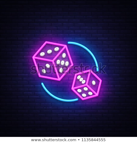 casino illustration with two dice on color background Stock photo © articular