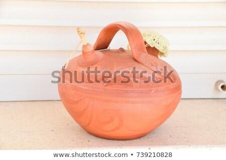 Hagyományos agyag edény kancsó édesvíz Spanyolország Stock fotó © lunamarina