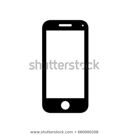 ベクトル アイコン 携帯電話 中心 ストックフォト © zzve