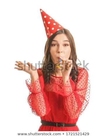 woman with birthday hat Stock photo © taden