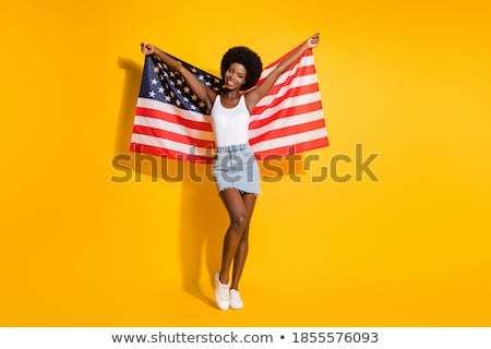 Independence Day over shining american flag Stock photo © marinini
