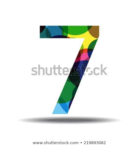 7 number circular vector red web icon button stock photo © rizwanali3d