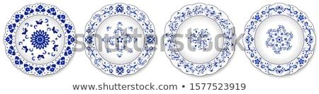 Porselein plaat geïsoleerd witte restaurant diner Stockfoto © konturvid