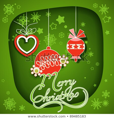 soyut · yeşil · Noel · kâğıt · kırmızı - stok fotoğraf © rommeo79