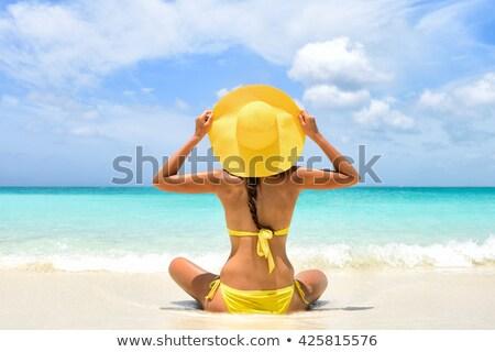 девушки Бикини лет Hat красивой Сток-фото © svetography