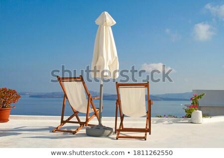 Empty Romantic Beach Chairs against sea Stock photo © artfotodima