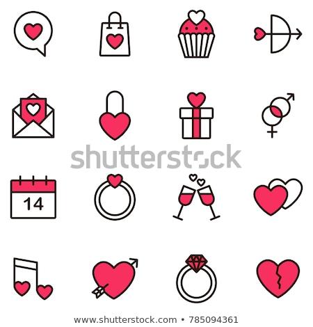 Valentijn · dag · valentijnsdag · eenvoudig · iconen - stockfoto © ayaxmr