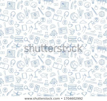 Webinar concept with Business Doodle design style: online format Stock photo © DavidArts