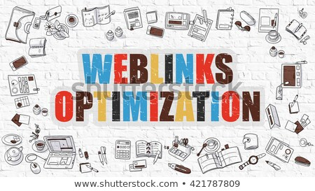weblinks optimization concept multicolor on white brickwall stock photo © tashatuvango