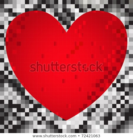 Verge - Pictogram on Pixelated Background. Stock photo © tashatuvango