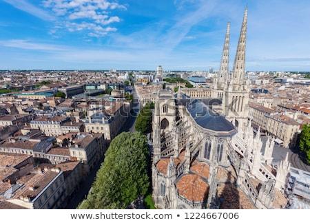 Szent katedrális hely Bordeau város kék Stock fotó © benkrut