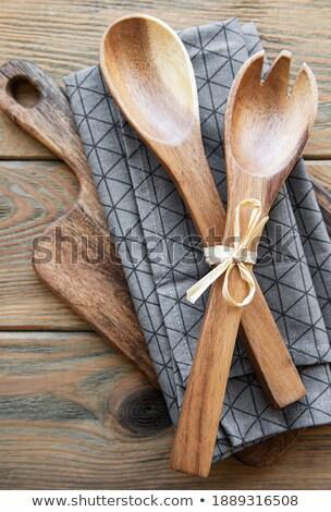 vintage · keuken · houten · steen - stockfoto © denismart