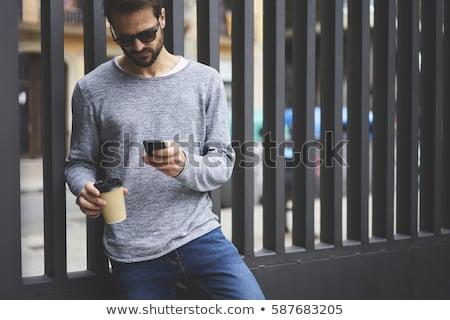 人 · オンラインショッピング · を · 服 · ショップ · インターネット - ストックフォト © dolgachov