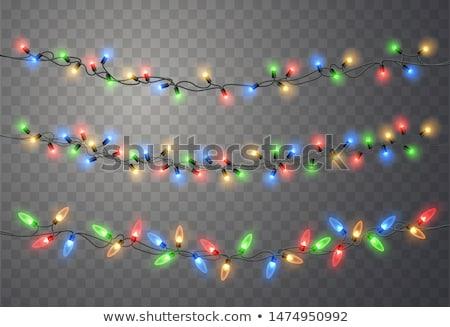 trillend · partij · guirlande · lichten · Rood · abstract - stockfoto © freesoulproduction