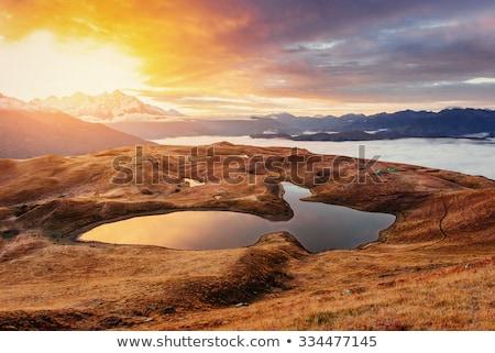 Montagne lac Géorgie vue principale Photo stock © Kotenko