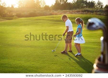 子供演奏 ゴルフ 6 愛らしい 白 子供 ストックフォト © colematt