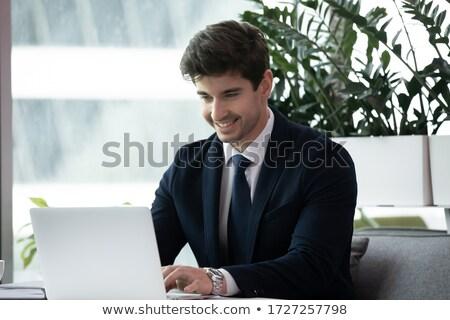 Jovem contemporâneo negócio agente elegante terno Foto stock © pressmaster