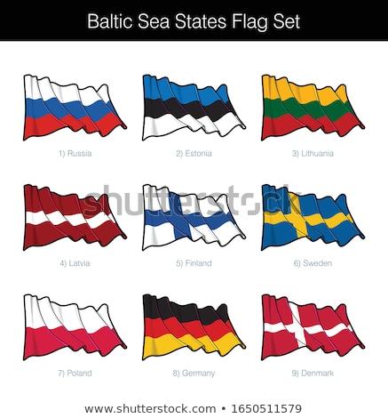 Balti-tenger integet zászló szett zászlók Oroszország Stock fotó © nazlisart