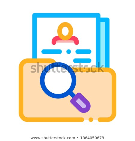 scientific study of personal human resource icon vector outline illustration Stock photo © pikepicture