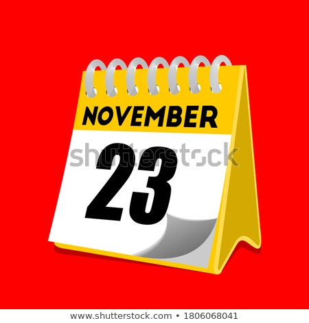 Simple black calendar icon with 23 november date isolated on white Stock photo © evgeny89