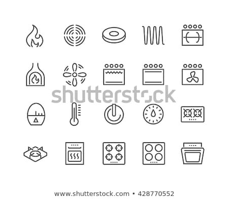 gas in kitchen burner icon vector outline illustration Stock photo © pikepicture