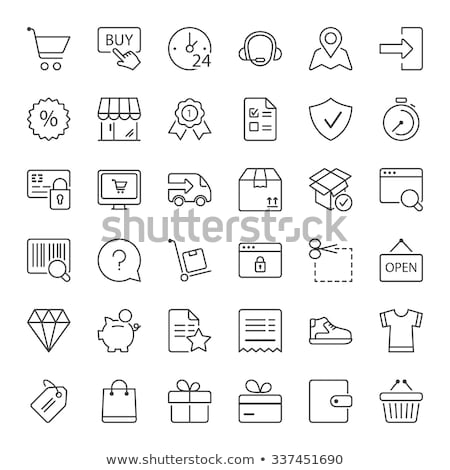 Vector ecommerce icons symbol set Stock photo © nickylarson974