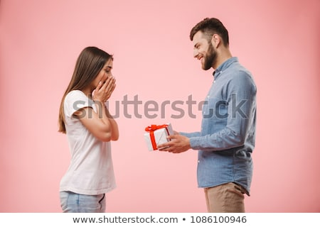 Man giving his girlfriend present Stock photo © photography33