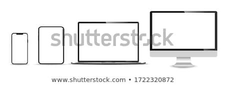 Sötét kék üzlet televízió technológia számítógépek Stock fotó © Ciklamen