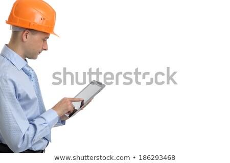 profissional · homem · tela · sensível · ao · toque · dispositivo · negócio · eletrônico - foto stock © stockyimages