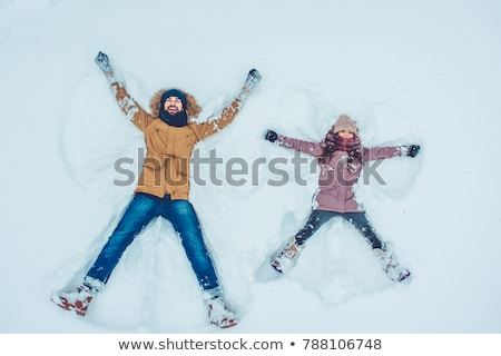 father and daughter in the snow stock photo © photography33